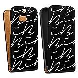 DeinDesign Tasche kompatibel mit HTC One M8 Eye Flip Hülle Hülle Schwarz Logo YouTube iBlali
