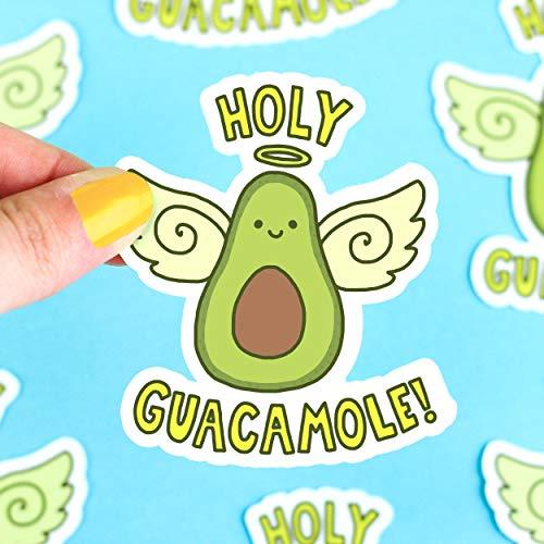 Funny Vinyl Stickers, Holy Guacamole, Avocado, Millennials, Guacamole Decals, Boyfriend Gift, Computer Stickers