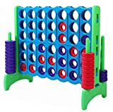 Rally and Roar Giant Plastic 4-in-a-Row - Complete Game Set Includes 44 Chips - Premium 4ft Wide