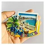 JSJJAWA Imán Brasil Roma San Pietro España Benidorm Travel Souvenir Fridge Imanes Decoración para el hogar Decoración magnética Refrigerador Pegatinas Regalo Juguete para niños (Color : Benidorm)