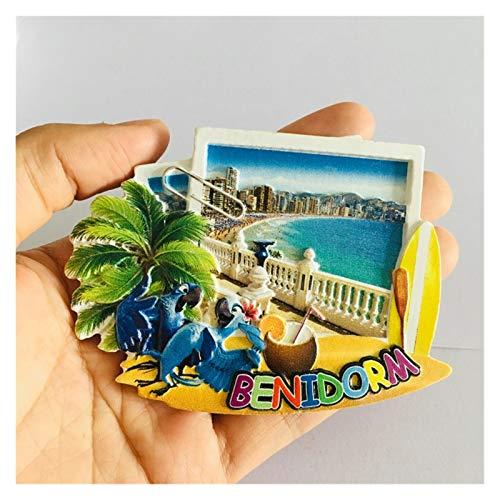 Imanes decorativos Brasil Roma San Pietro España Benidorm Travel Souvenir Fridge Imanes Decoración para el hogar Decoración magnética Refrigerador Pegatinas Regalo Juguete para niños decoración