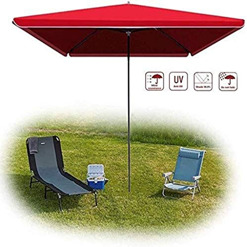 ZA Square Outdoor Umbrellas, Awnings That are Windproof, Rainproof, and UV-Resistant are The Best Choices for Garden Beach Terraces 7.16 (Color : Red, Size : 22m)