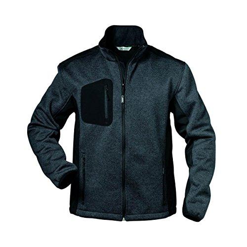 Elysee Innsbruck Herren Strick-Fleecejacke | 2 Farben: dunkelgrau/schwarz, hellgrau/grau | leichte Arbeitsjacke | Übergangsjacke | Top Qualität | atmungsaktiv bequem weich (XL, dunkelgrau/schwarz)