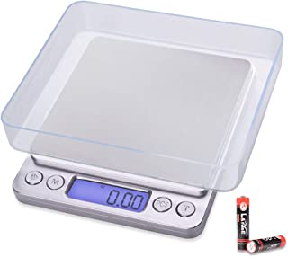 Fuzion Digital Kitchen Scale 3000g/ 0.1g, Pocket Food Scale 6 Units Conversion, Gram Scale with 2 Trays, LCD, Tare Function, Jewelry Scale for Jewlery, Food, Cooking, Nutritions(Battery Included)