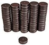 Creative Hobbies Industrial Ceramic Circle Magnets 11/16 Inch Flat - 18mm Round Disc - 3/16' Thick - Ferrite Magnets Bulk for Crafts, Science & Hobbies, Refrigerator or Whiteboard - 100 pcs/Box!