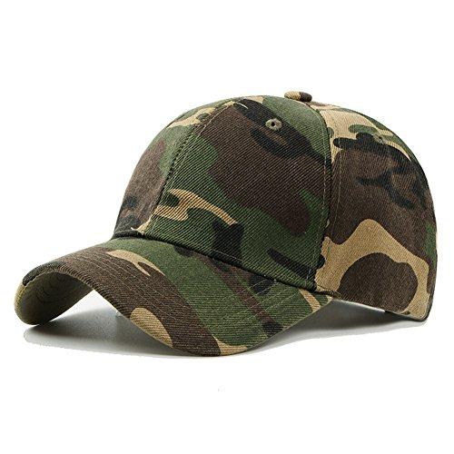 Uxradg Men Army camouflage berretto militare, berretto da baseball Casquette climbing camo caccia pesca Desert cappello per caccia pesca attività all' aperto, GOMASINSUD65101, green