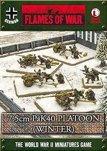 compras en linea Flames of War German 7.5cm PaK40 Platoon (winter) by Battlefront Battlefront Battlefront Miniatures  increíbles descuentos