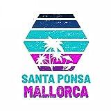 A/X 13cmx10.5cm para Santa Ponsa Mallorca Anime calcomanía Parabrisas Dibujos Animados Pegatinas de Coche refrigerador