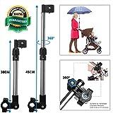 WIKEA Adjustable Umbrella Connector, Umbrella Holder for Golf Cart, Bike, Baby Stroller,Fishing Beach Chair,...