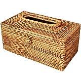 Fhdpeebu Papier Regal Rattan Tissue Box Elegante Dekoration Hand Gemachte Desktop Tissue Container Serviette Aufbewahrungs Koffer