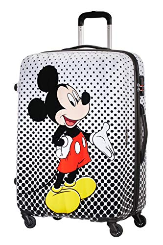 American Tourister Disney Legends - Spinner L - Children's Suitcase, 75 cm, 88 L, Multicolour (Mickey Mouse Polka Dot)