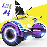 FUNDOT Hoverboards with seat,Hoverboards with hoverkart,Go kart 6.5 inch,Hoverboards with beautiful LED lights,Hoverboards with Bluetooth speaker,Gift for Children - Best Reviews Guide