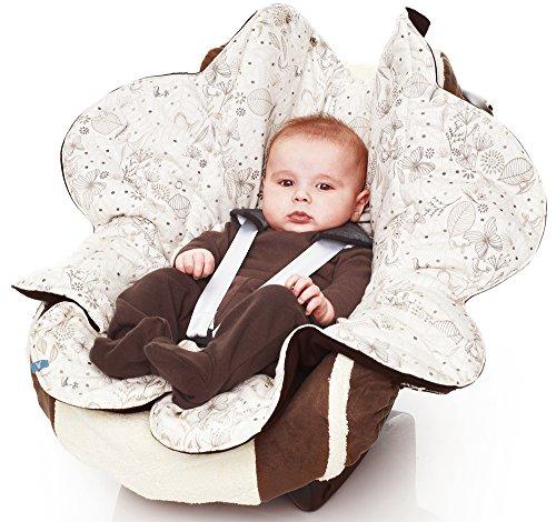 Wallaboo Leaf - Manta para bebé ultra suave, color negro