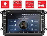 M.I.C. AV8V5-lite Android 9 Autoradio Radio Navigationssystem:DAB+ digitalradio Bluetooth WLAN 8 Zoll IPS Bildschirm 2G+32G USB sd GPS Tuning für VW Skoda SEAT Polo Golf Passat touran t5...