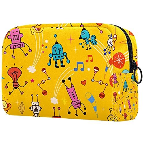 Bolsos de almacenamiento del viaje del bolso del maquillaje, bolso cosmético especial femenino amarillo