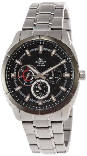 CASIO 19092 EF-327D-1A - Reloj Caballero Cuarzo Brazalete metálico dial Negro