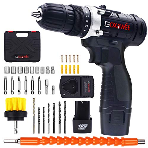 Cordless Drill W/ 2 Batteries, 100pcs Screw Driver Set $33.74 (25% OFF)