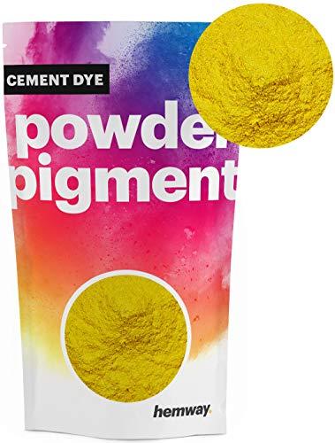 Hemway Cement Dye Pigment Beton Kleur Poeder Render Mortel wijzen Poeder Baksteen Toner 100g Metallic Mosterd Geel