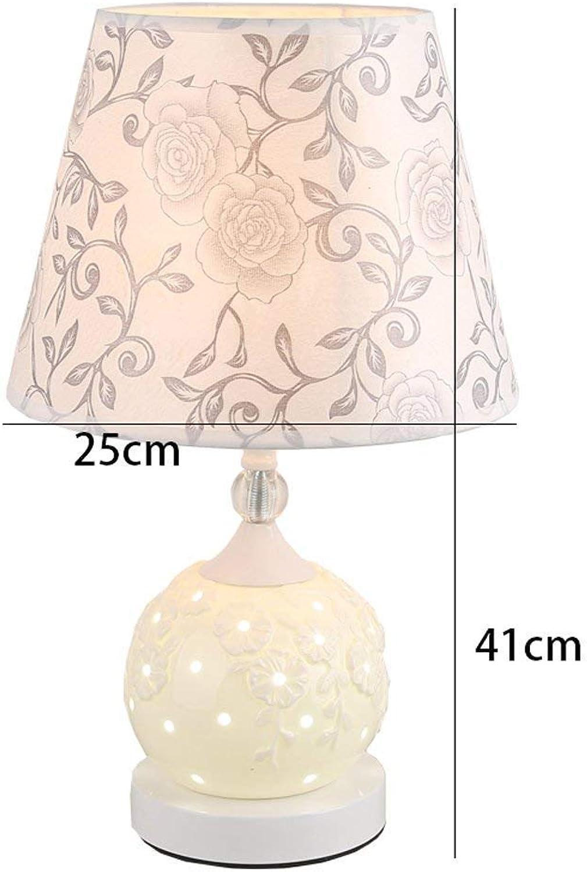 AOLI Tischlampe Europäischen Keramik Tischlampe Nacht Schlafzimmer Minimalistische Mode Kreative Dimmbare, Nachtlicht, H41Cm  W25Cm (Edition  B) B07J5QH8F7 | Großartig