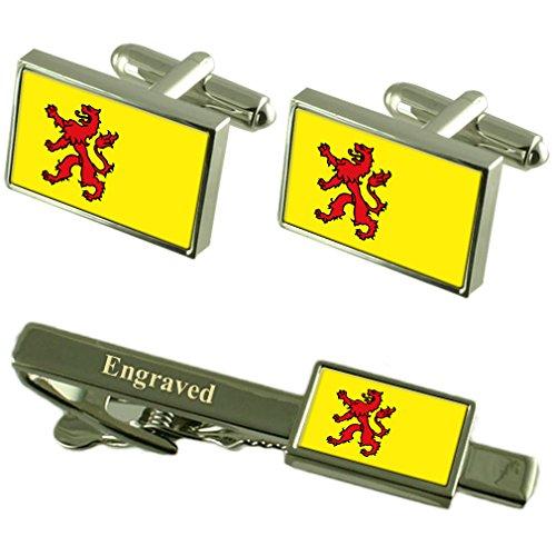 Select Gifts Baden-württemberg Flagge Manschettenknöpfe gravierte Krawattenklammer passende Box Set