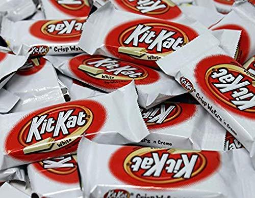 Hershey's Kit Kat Miniatures (2 pounds) Candy White Crisp Wafers 'n Cream Mini Bars, Snack Size Hershey kitkat2 Lbs