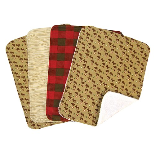 Northwoods 4 Pack Burp Cloth Set