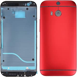 قطع غيار HTC Full Housing Cover (Front Housing LCD Frame Bezel Plate + Back Cover) for HTC One M8(Red) قطع غيار HTC (Color...