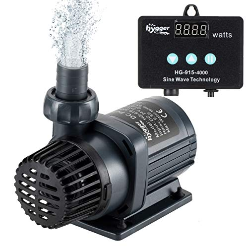 hygger 1060GPH Quiet Submersible and External 24V Water Pump, with Controller (30%-100% Settings), Powerful Return Pump for Fish Tanks, Aquariums, Ponds, Fountains, Sump, Hydroponics (33W, 13.1ft)
