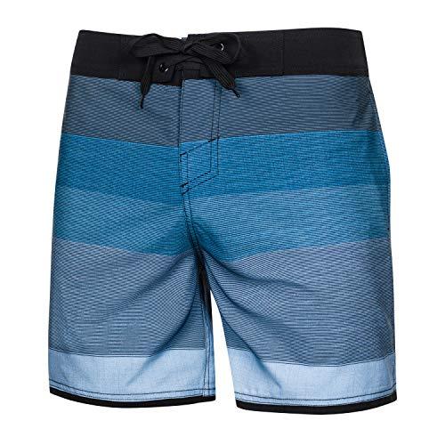 Aqua Speed Badehose Herren + gratis eBook | Schwimmhose Strand | Badeshorts Taschen | Swimwear | Beach Shorts D.Blau H.Blau | Gr. M | Nolan