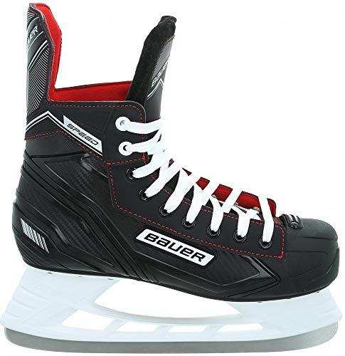 Bauer 137044 Speed Skate SR EH-Skate,schwarz-wei, Größe:6-40 1/2 EU, Farbe:schwarz-Weiss-rot-Silber