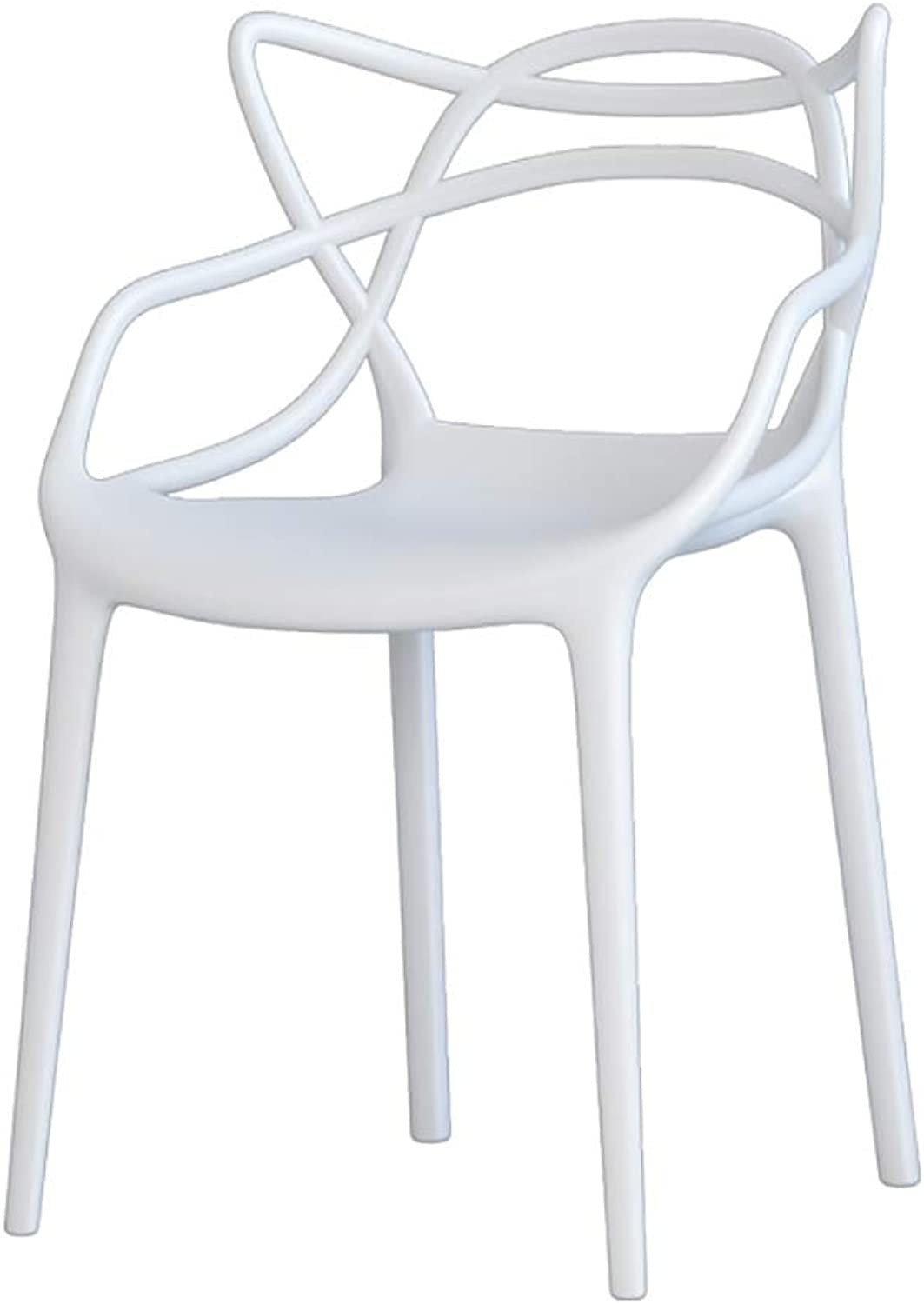 Home Modern Simple Dining Chair Backrest Desk Chair Plastic Casual Cafe Personality Stool (color   B)