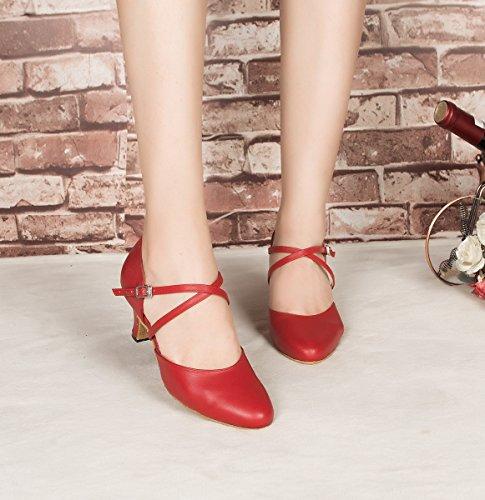 Minitoo ,  Damen Tanzschuhe , Rot – rot – Größe: 39 - 5