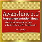 Best Glutathione Soaps - Awanshine Hyperperpigmentation Whitening Soap with Glutathione, alpha arbutin Review