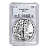1991 American Silver Eagle ASE $1 MS-69 PCGS