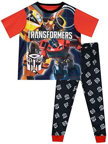 Transformers Pijamas de Manga Corta para niños Bumblebee Optimus Prime Multicolor 9-10 Años