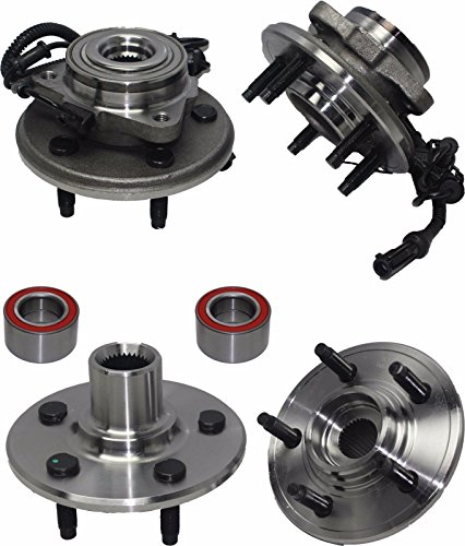Detroit Axle - Front Wheel Bearing and Rear Hub Assembly for 2002 2003 2004 2005 Ford Explorer Lincoln Aviator Mercury Mountaineer