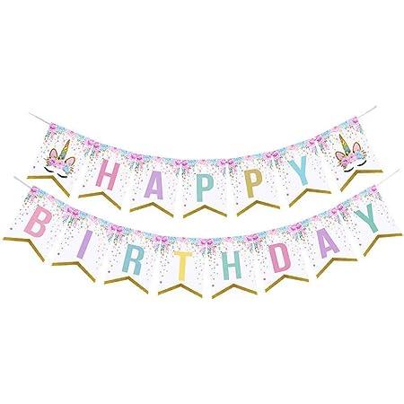 Unicorn Sparkle Creative Converting 329312 Happy Birthday Banner