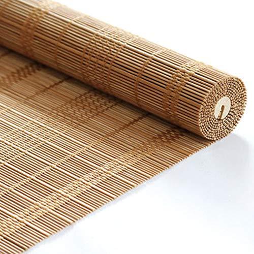 Persianas De Bambú, Persianas De Paja Hechas De Caña De Primera Calidad, con Protección Solar Anti VahoPara Exteriores/Patio/Jardín (Tamaño : 60x175cm),Tamaños múltiples(60 * 220)