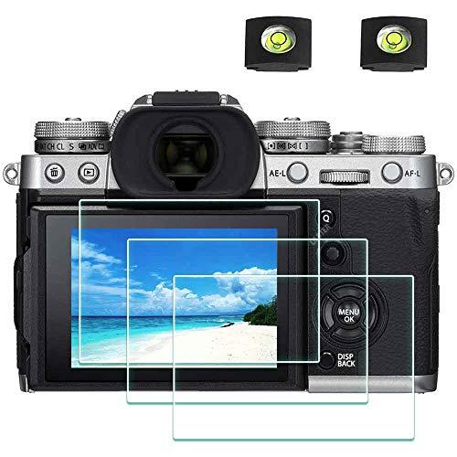 X-T3 Displayschutzfolie Schutzfolie für Fujifilm X-T3 Fuji Film XT3 Kamera & Blitzschuhabdeckung,ULBTER 9H Härte LCD Gehärtetes Glas Kratzfest Anti-Fingerabdruck Anti-Staub Blasenfrei,3 Stück