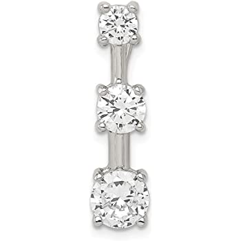 925 Sterling Silver Black White Cubic Zirconia Cz Pendant Charm Necklace Holder Fine Jewelry Gifts For Women For Her