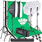 FOSITAN 2.8M x 3M/9.2ft x 9.8ft Photo Backdrop Stand kit Photography...