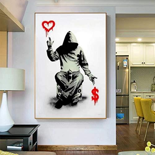 JHGJHK Banco Moderno Arte de la Pared dólar en la Pintura de la Pared Cartel del Arte impresión de la Pared para la decoración de la Pared de la Sala Pintura al óleo