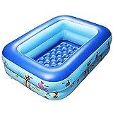 GreenItem Inflatable Baby Swimming Pool Family Swimming Center Rectangular Durable Friendly PVC Portable Outdoor Indoor Children Basin Bathtub Kids Pool Water Play Ball Pool Pit (Rectangular Type)