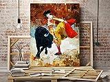 Oedim Cuadro Vertical Pegasus Impresión Digital Torero Pintado | Multicolor | 56 x 100 cm | Cuadro para Pared, Resistente y Económico