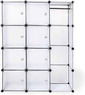 TecTake Armoire Penderie Cabinet Cubes Étagère de Rangement Modulables - diverses Couleurs au Choix - (Transparent)