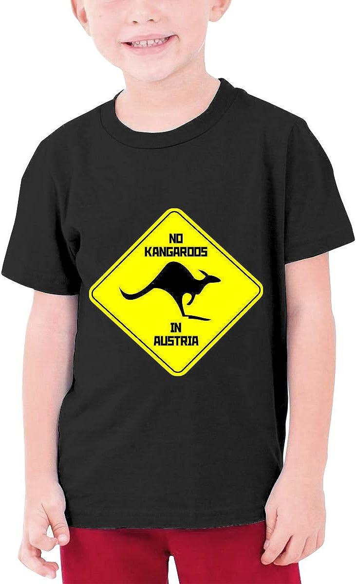 No Kangaroos in Austria Youth T-Shirt Short Sleeve Top Boys&Girls Tee