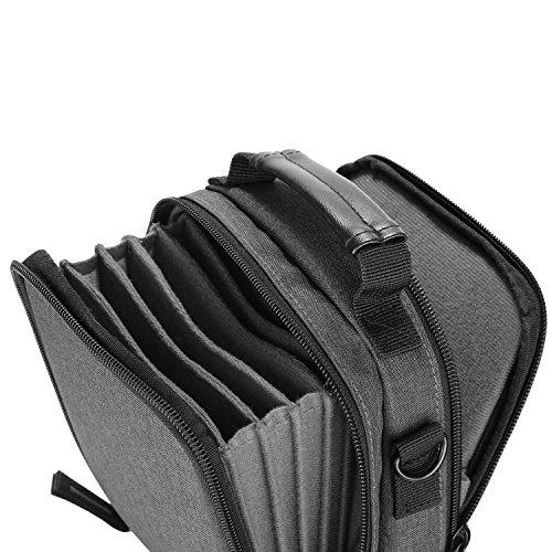 Neewerカメラレンズフィルターポーチケースショルダーストラップ付きソリッドキャンバス製6枚100x100mm正方形或いは100x150mm長方形フィルターに適用