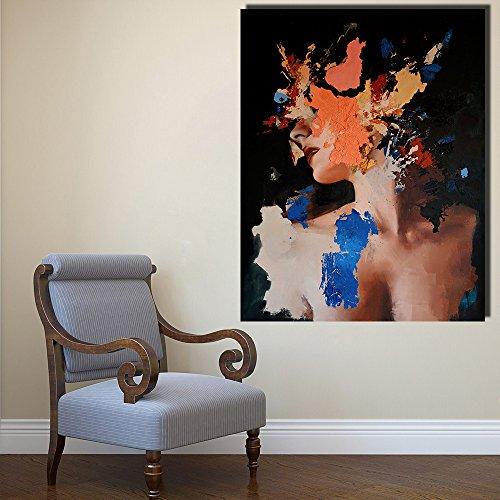 Portrait olieverfschilderij, wandafbeelding, kunstfiguur, tekening op canvas, decoratie thuis, post en druk zonder lijst