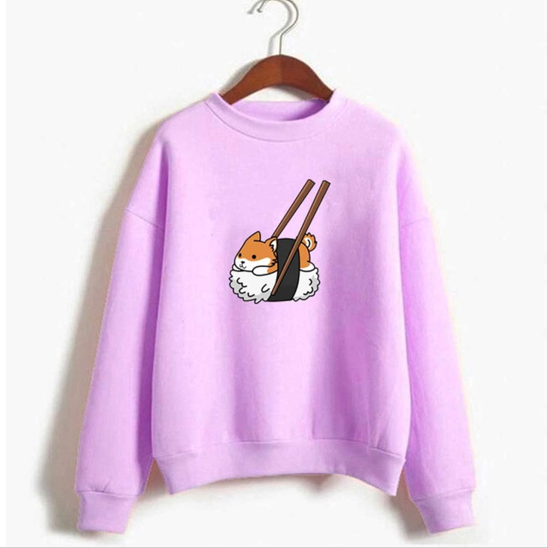 MNBV Hoodie Frauen Hoodies Cartoon Hund Shiba Inu Sweatshirt Graphic Hoodie Fashion Pul r M