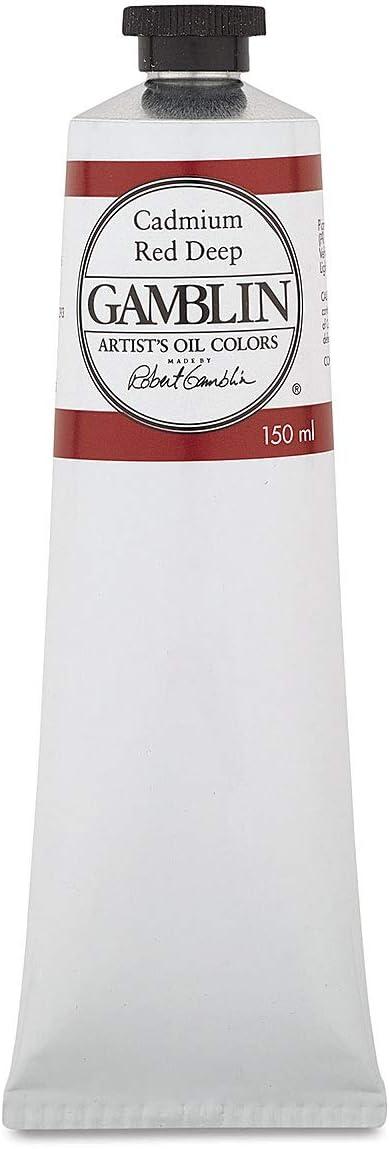 Financial sales sale Gamblin Artist Oil 150ml Tube 2160 Branded goods Red Deep Cadmium